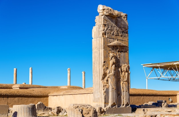Ruins of persepolis, the capital of the achaemenid empire