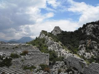Ruins of termessus amphitheater