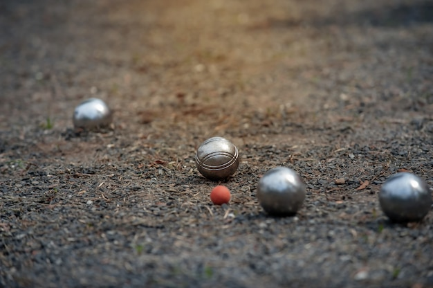 Rules of playing petanque background