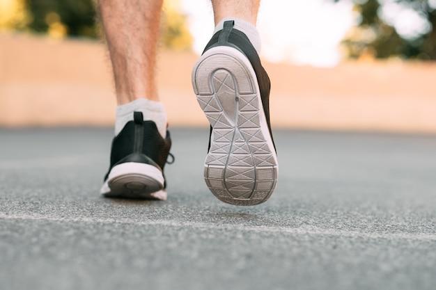 Runner in jogging shoes.