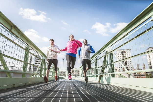 Runners on street