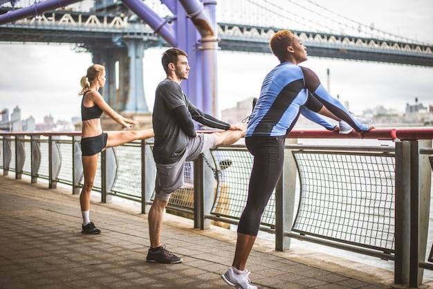Runners training in new york