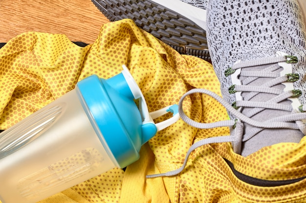 Running shoes and various accessories