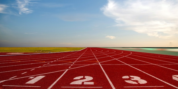Running track for the athletes, athlete track or running track