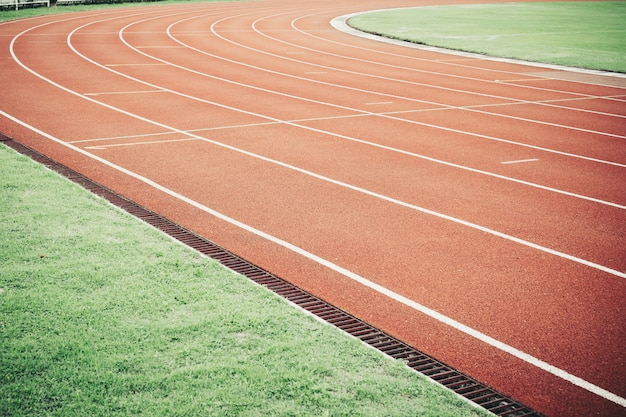 Running track for athletic competition texture.