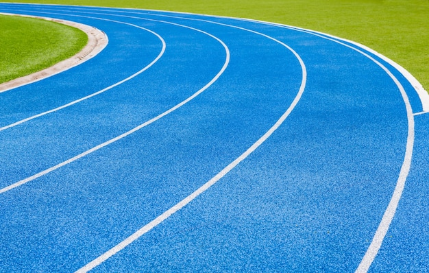Running track for sport background concept