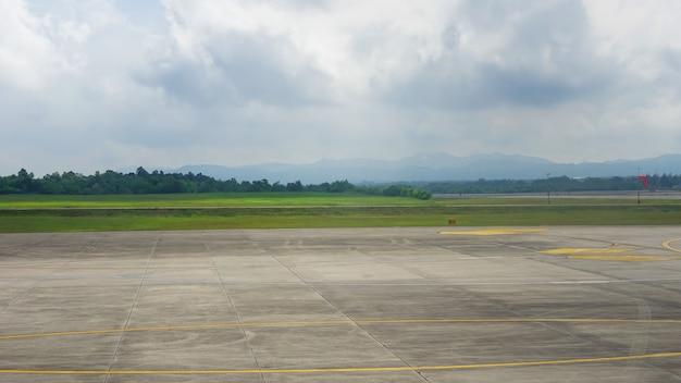 The runway of the airport. Premium Photo