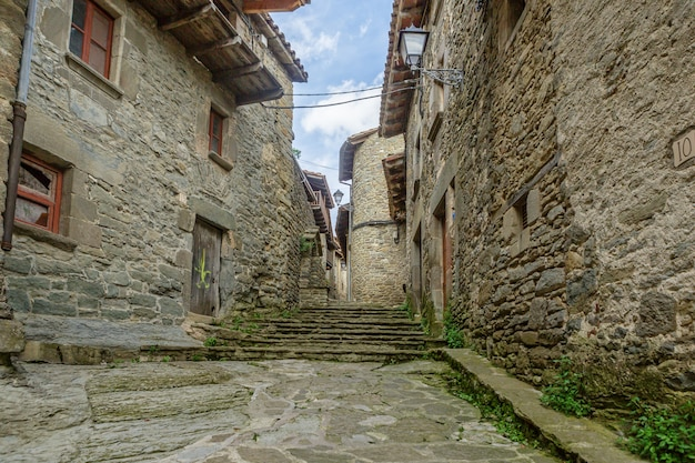 Rupit village in catalonia, spain