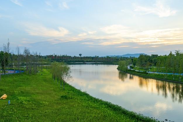 농촌 중앙 공원, 자연 경관, tongliang 지구