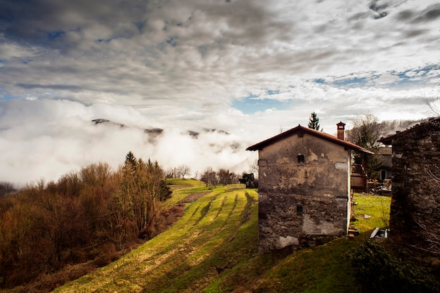 Rural house in the slovenian countryside