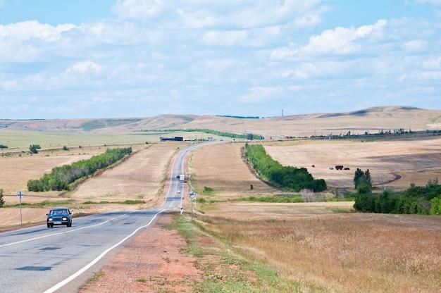 Rural landscape with road