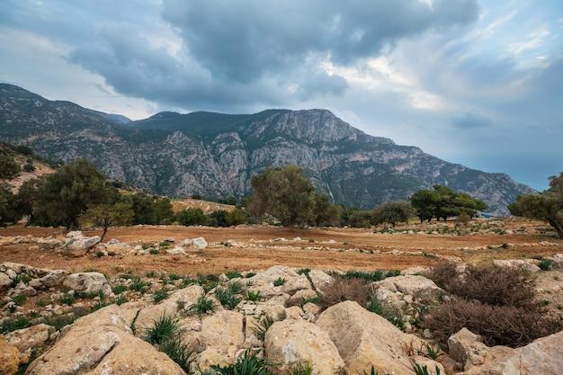 터키 산의 시골 풍경