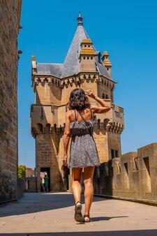 Сельский туризм в средневековом городе и в его красивом замке