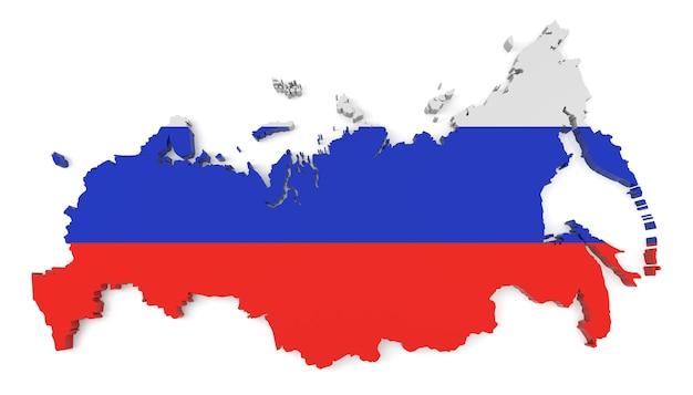 Флаг россии на карте страны