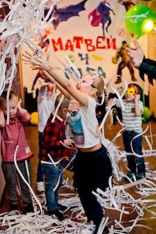 Russia. moscow - november 20, 2016. children's paper disco.