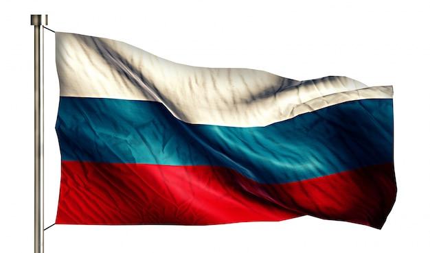 Россия национальный флаг изолированных 3d белый фон