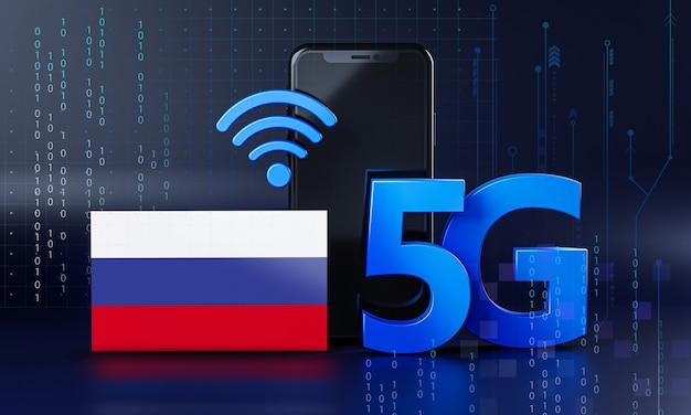 Россия готова к концепции подключения 5g. 3d визуализация смартфон технологии фона