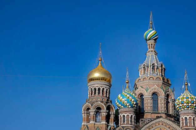 Россия, санкт-петербург, 03 октября 2021 года: храм спаса-на-крови, бывшая русская православная церковь. известное место.