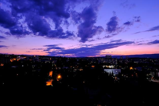 ロシア。夕日のシーン。幻想的な風景。日の出のシーン。