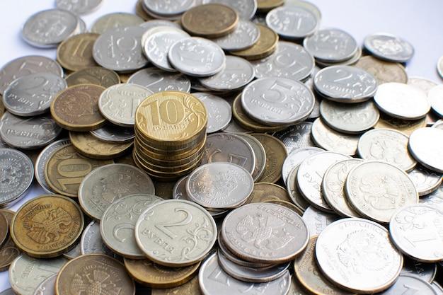 러시아 동전 클로즈업