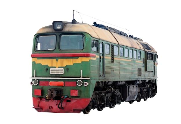 Российский тепловоз м62, изолированные на белом фоне