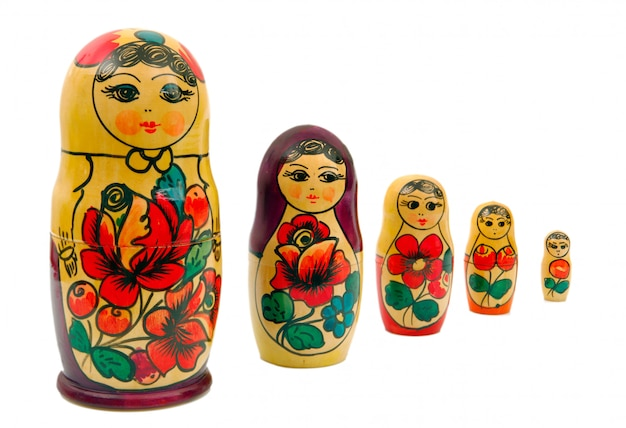 Russian family set dol