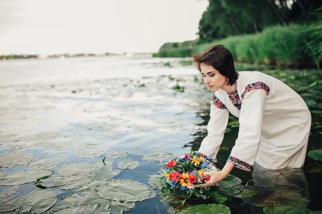 Русская девушка в воде