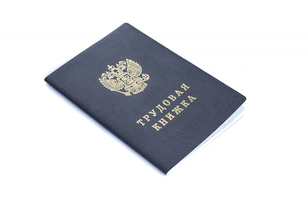 Russian labor book,  isolated