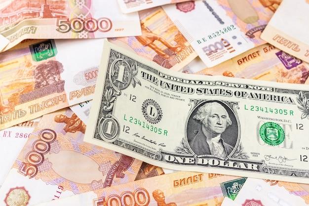 Российские рубли и доллар