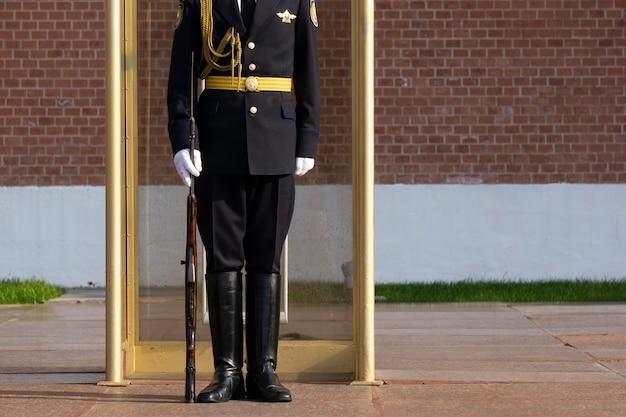 Русский солдат на страже в московском кремле