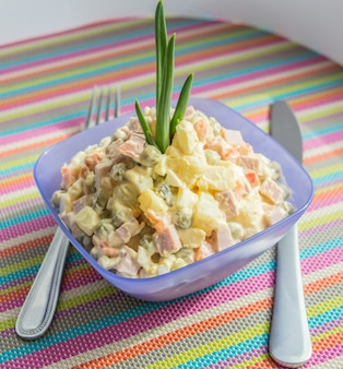 Russian traditional salad