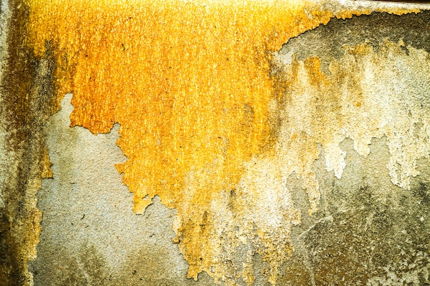 Rust of concrete surface was damaged by groundwater
