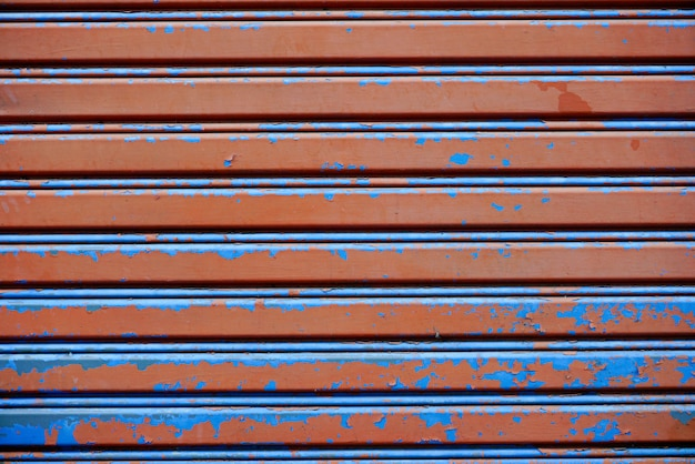 Rust and crack metal door background