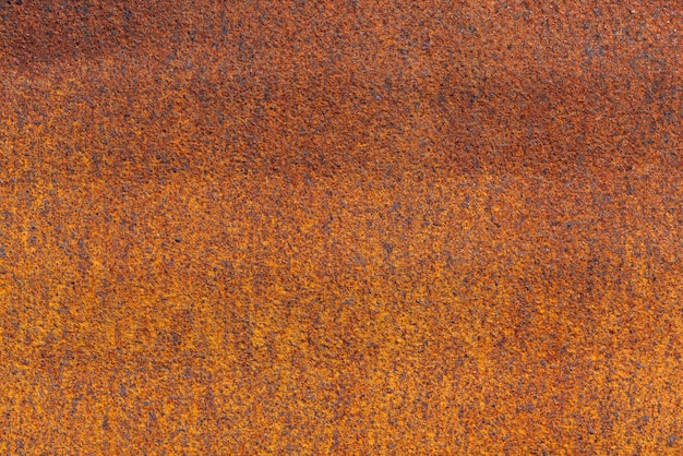 Rust on metallic surface