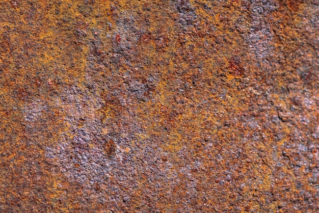 Rust on metallic surface.