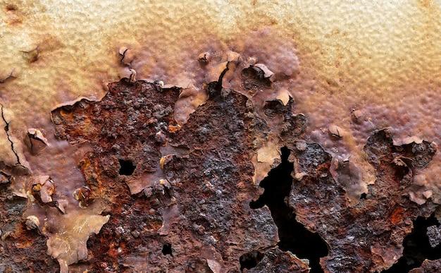金属の錆古い鉄の腐食性錆プレゼンテーションのイラストとして使用 Premium写真