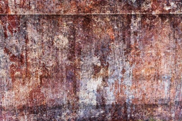 Ржавчина на стальной пластине. ржавый металл текстуры для отделки и промышленного. концепция строительства.