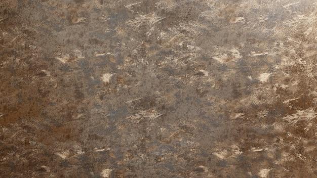 塗料の残留物がある金属の表面の錆