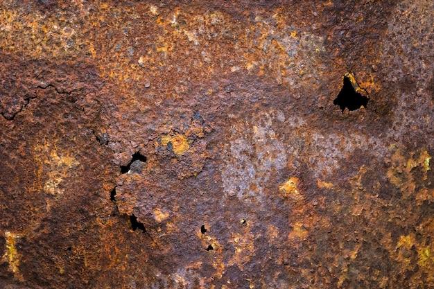 Rust in steel background