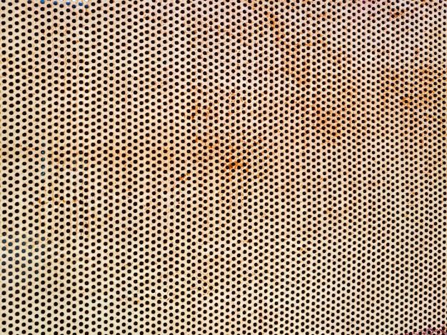 Rust surface on circle pattern metal plate