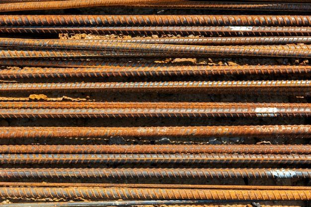 Rust texture on steel lines, structure for background.
