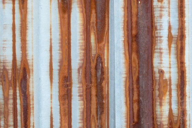 Rust on zinc background