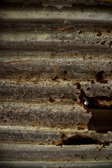 Rust zinc on texture and background