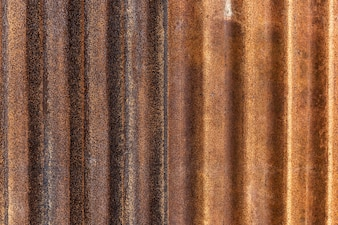 Rusted galvanized iron