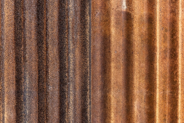Rusted galvanized iron