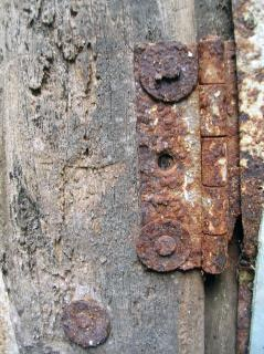 Rusted hinges