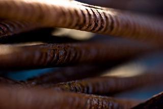 Rusted metal bars, bars