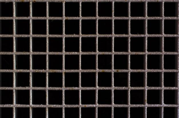 Rusted metal grid