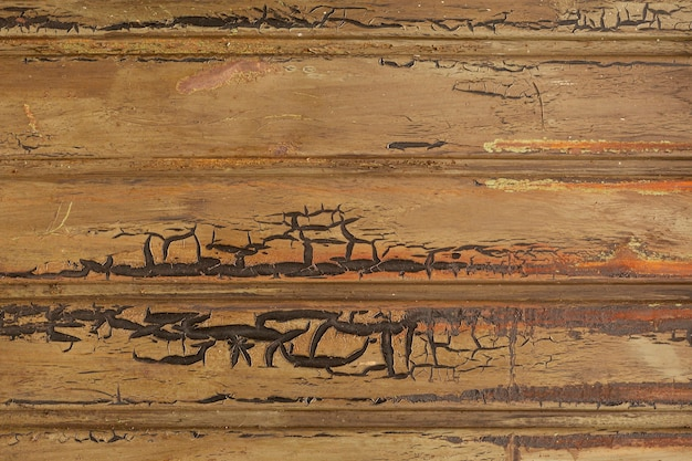 Rusted metal with horizontal pattern