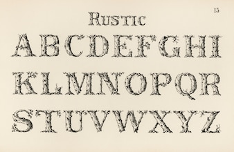Rustic calligraphy fonts